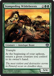 Stampeding+Wildebeests
