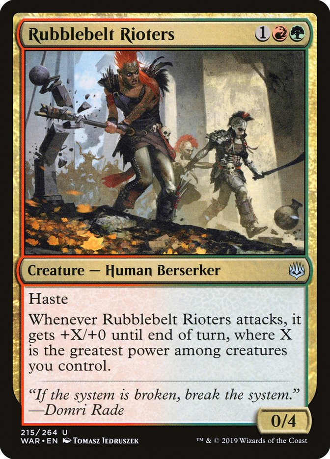 Rubblebelt+Rioters