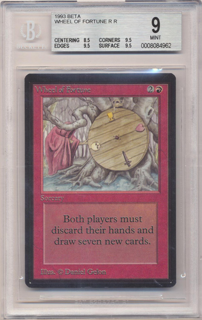 Wheel of Fortune (Beta) (BGS 9) (#0008084962)
