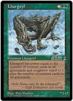 Lhurgoyf (6x9 Oversized)(Not Tournament Legal)