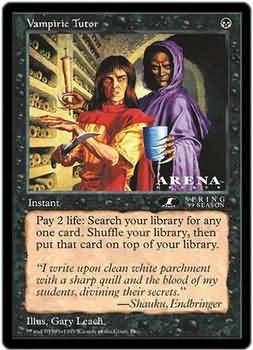 Vampiric Tutor (6x9 Oversized)(Not Tournament Legal)