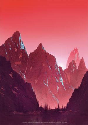 John Avon - Unhinged Lithograph - Mountain