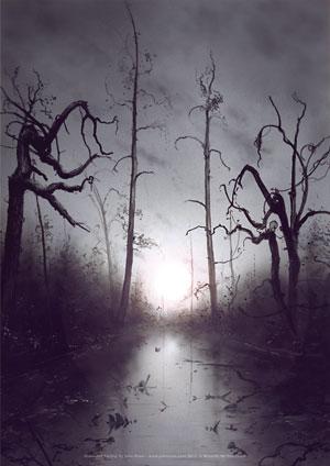 John Avon - Unhinged Lithograph - Swamp