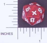 Magic Spindown Die - Betrayers of Kamigawa - Red