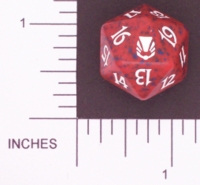 Magic Spindown Die - Darksteel - Red
