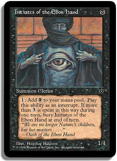 Initiates Of The Ebon Hand (Magic card)