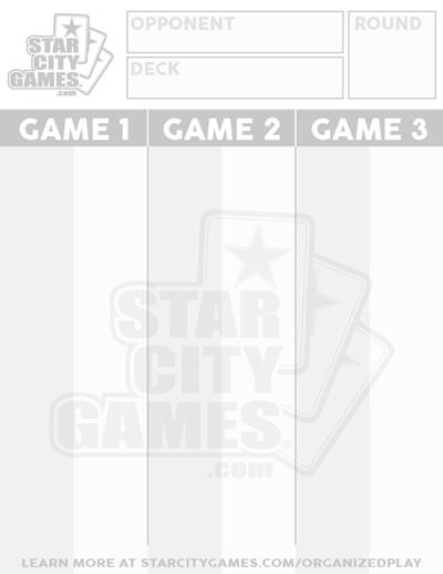 StarCityGames.com Life Scorepad