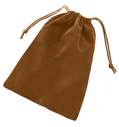 Solid Color Dice Bag - Brown