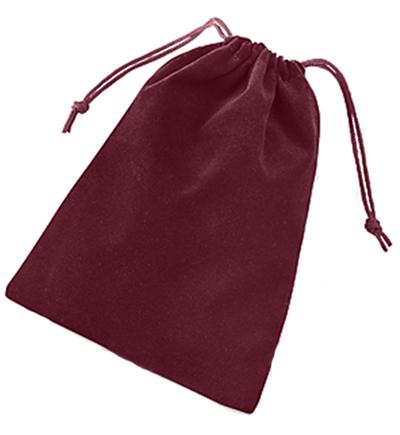 Solid Color Dice Bag - Burgundy