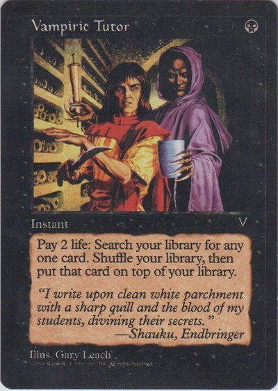 Vampiric Tutor (Dark Visions - Color Error)