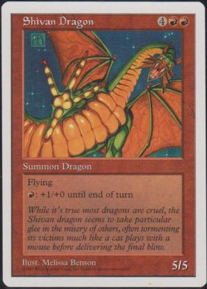 Shivan Dragon (5th Edition - Misprint)