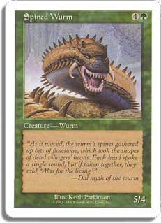 Spined Wurm (Book Insert)
