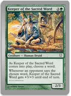 Keeper Of The Sacred Words (Magic card)