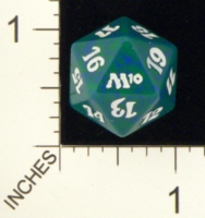 Magic Spindown Die - 2010 Core Set - Green