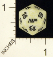 Magic Spindown Die - Magic 2010 Core Set - White
