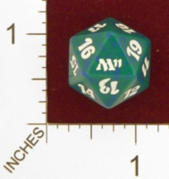 Magic Spindown Die - 2011 Core Set - Green