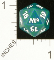 Magic Spindown Die - Magic 2012 Core Set - Green
