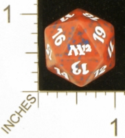 Magic Spindown Die - Magic 2012 Core Set - Red