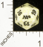 Magic Spindown Die - Magic 2012 Core Set - White