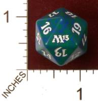 Magic Spindown Die - Magic 2013 Core Set - Green