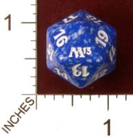Magic Spindown Die - Magic 2013 Core Set - Blue
