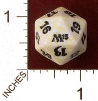 Magic Spindown Die - Magic 2013 Core Set - White