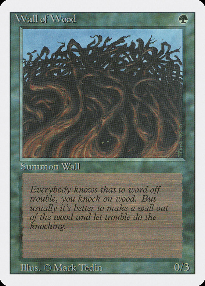 Wall Of Wood wall of wood (magic card)