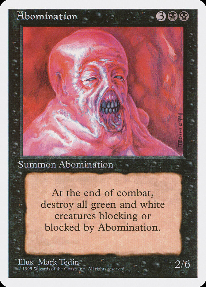 Abomination (Alpha-cut 4th Edition)