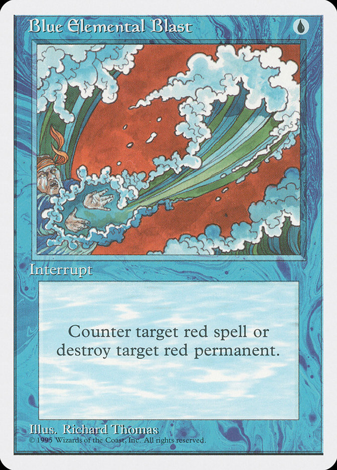 Blue Elemental Blast (Alpha-cut 4th Edition)