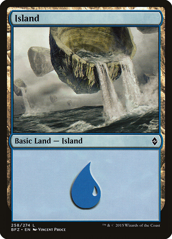 Island (#258) (Regular Art)