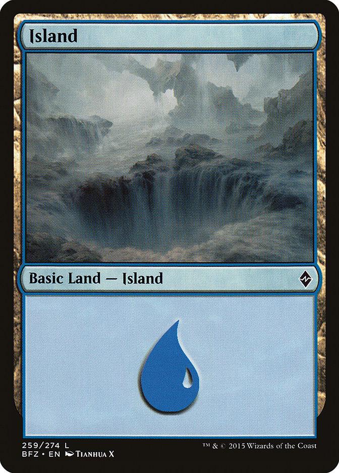 Island (#259) (Regular Art)