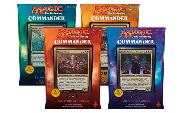 Commander 2017 Deck -- Set of Four
