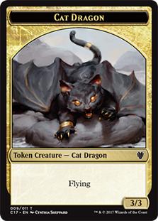 Cat Dragon Token
