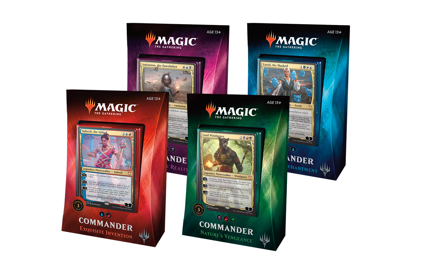 Commander 2018 Deck -- Set of Four