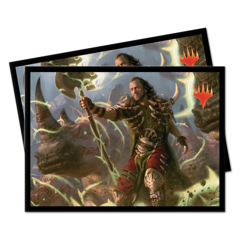 Ultra Pro Magic Matte Sleeves - Commander 2019 - Ghired, Conclave Exile