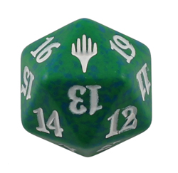 Magic Spindown Die - Planeswalker Symbol - Green