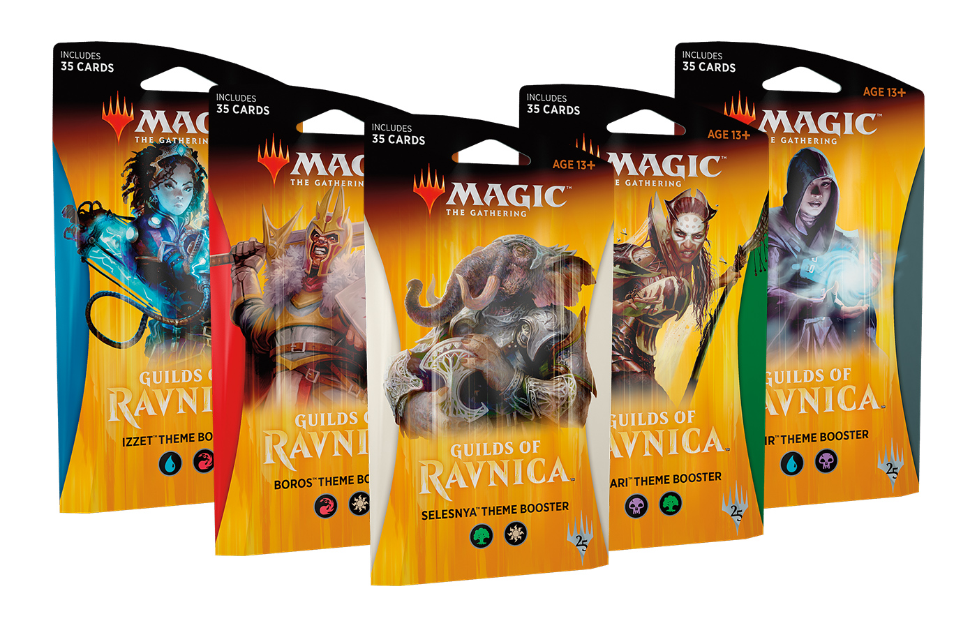 Guilds of Ravnica Theme Booster -- Set of Five