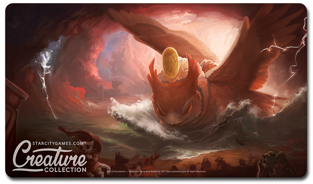 StarCityGames.com Playmat - Prerelease Exclusive Creature Collection - Owl of Devastation