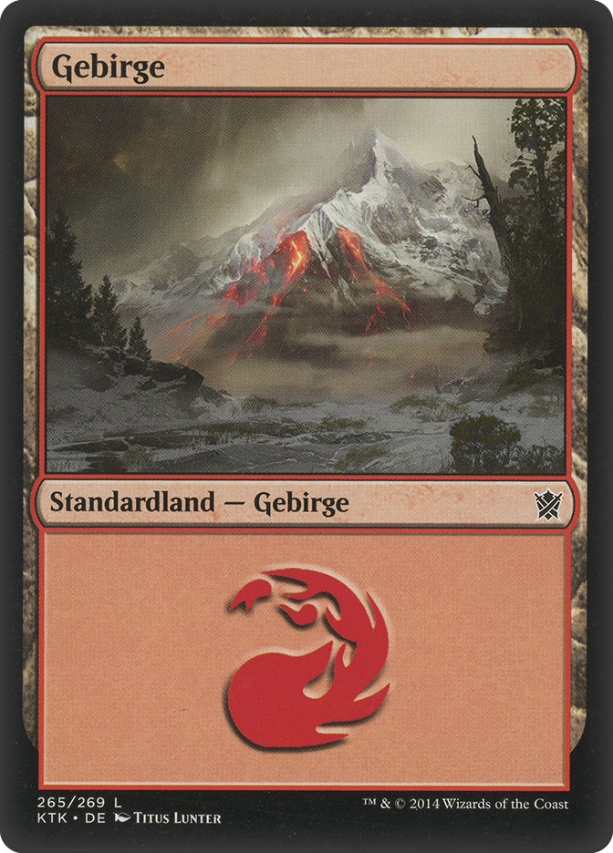 Mountain (#265) (Khans of Tarkir)