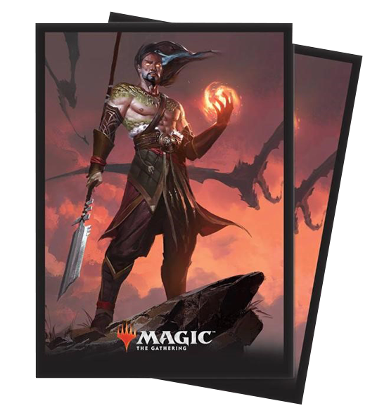 Ultra Pro Magic Matte Sleeves  - Core Set 2019 - Sarkhan, Fireblood