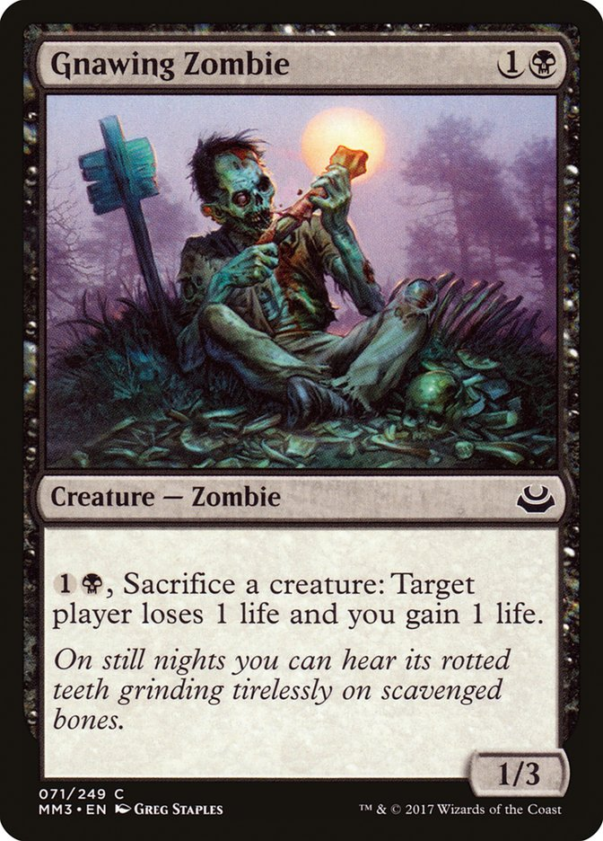 Gnawing Zombie