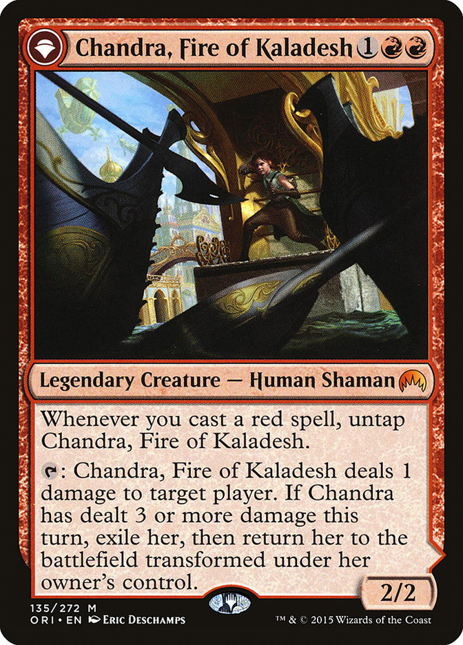 Chandra, Fire of Kaladesh |  Chandra, Roaring Flame (Pre-Order: Ships Jul 17)