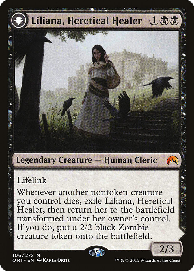 Liliana, Heretical Healer // Liliana, Defiant Necromancer