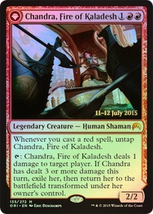 Chandra, Fire of Kaladesh | Chandra, Roaring Flame (Magic Origins Prerelease)