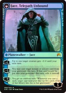 Jace, Telepath Unbound (Magic Origins Prerelease) (Flip side of the multi-part card Jace, Vryn