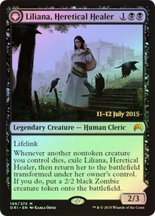 Liliana, Heretical Healer | Liliana, Defiant Necromancer (Magic Origins Prerelease)