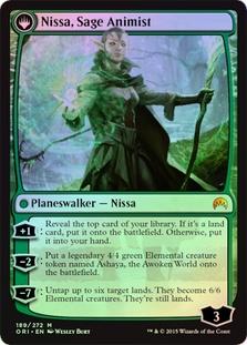 Nissa, Vastwood Seer | Nissa, Sage Animist (Magic Origins Prerelease)
