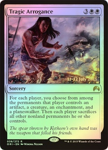Tragic Arrogance (Magic Origins Prerelease)
