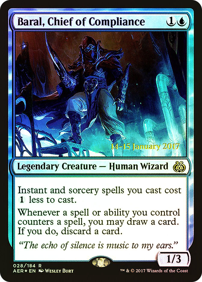 Baral, Chief of Compliance (Aether Revolt Prerelease)