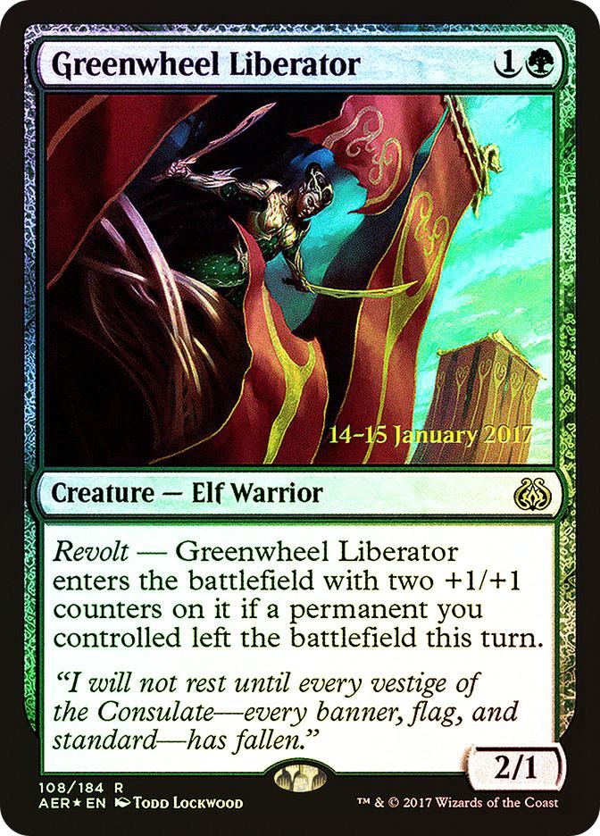 Greenwheel Liberator (Aether Revolt Prerelease)